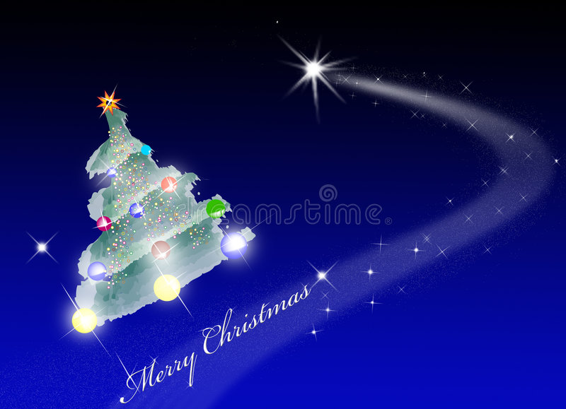 Merry Christmas Space Stock Photography