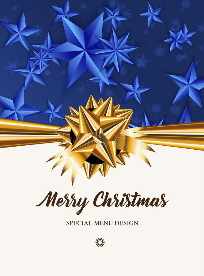 Merry Christmas! Special menu design. stock illustration