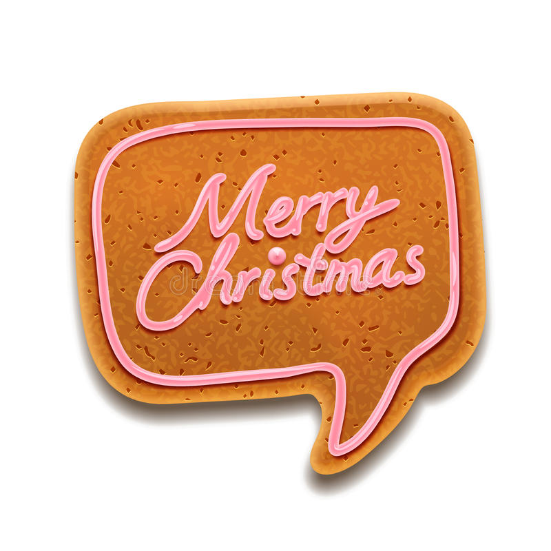 Merry Christmas speech bubble, vector Eps10 image royalty free stock photography