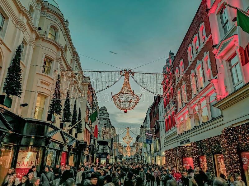 Merry Christmas, Stevens Green, Dublin, Ireland stock photo