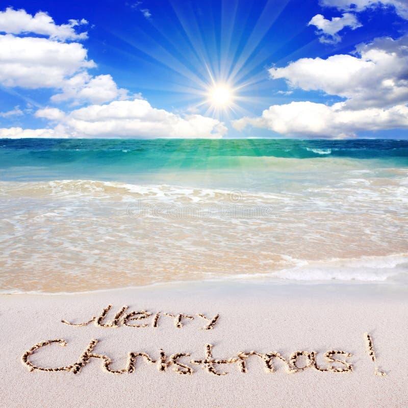 Caribbean Beach: Merry Christmas! Stock Image. Image Of Ocean, Holiday