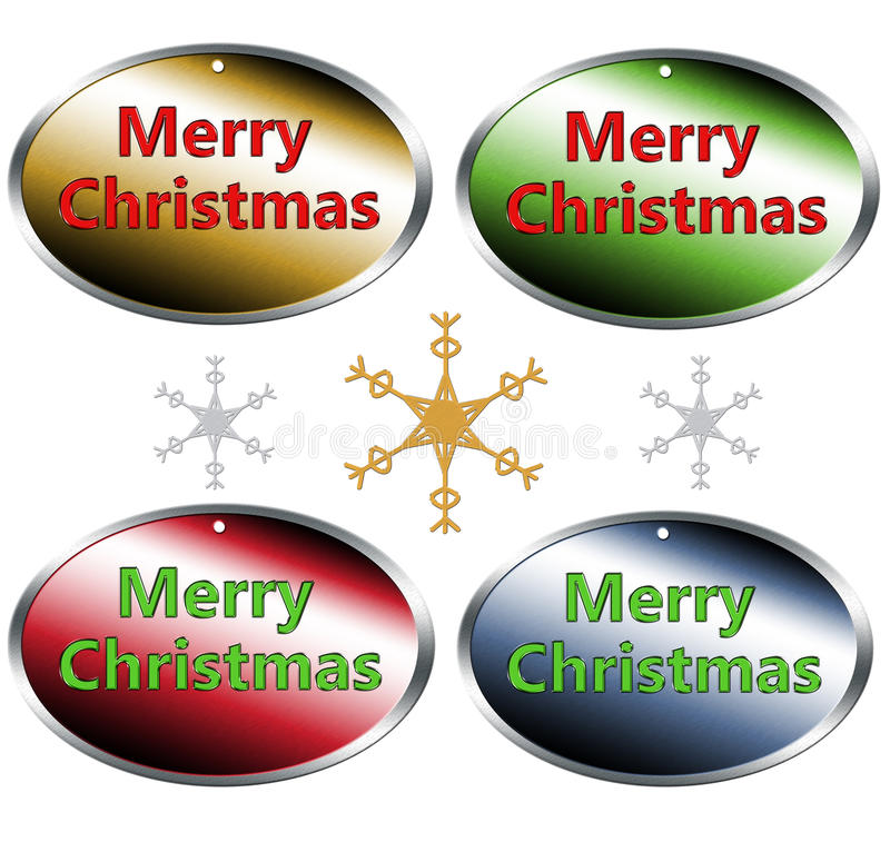 Download Merry christmas tags stock illustration. Image of sign - 34609668