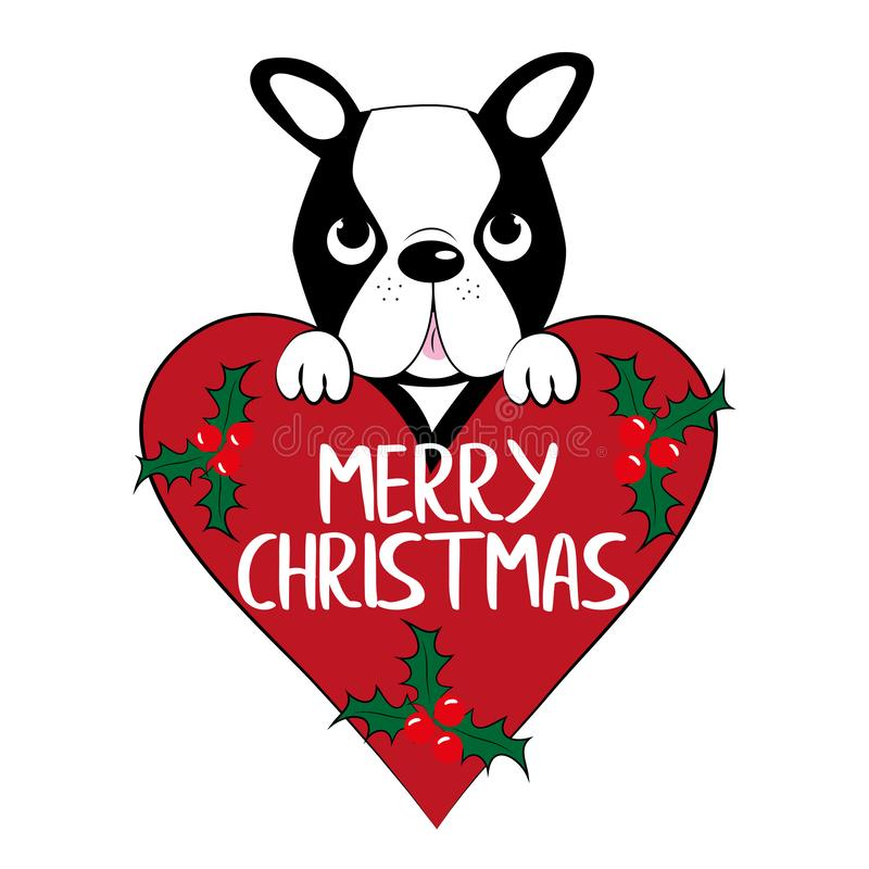Boston Terrier dog lover christmas holiday cards