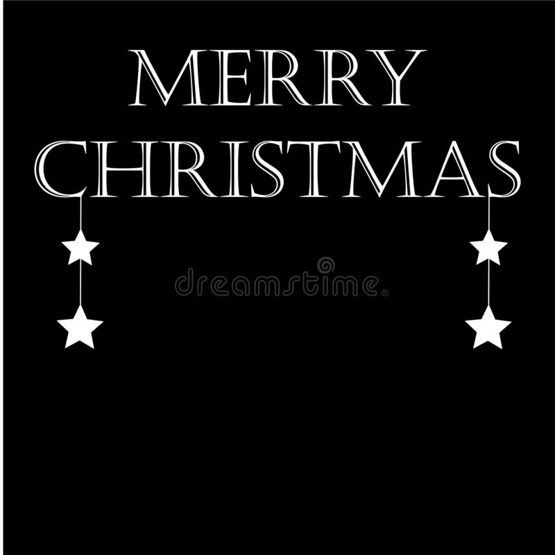 Merry Christmas text design. Vector logo, typography. Usable as banner, greeting card. Gift package royalty free illustration