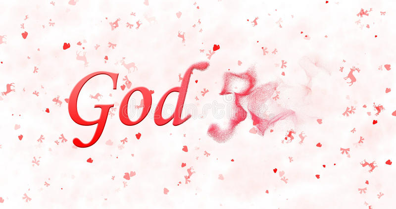 Merry Christmas text in Norwegian God Jul turns to dust from r. Ight on white background royalty free illustration