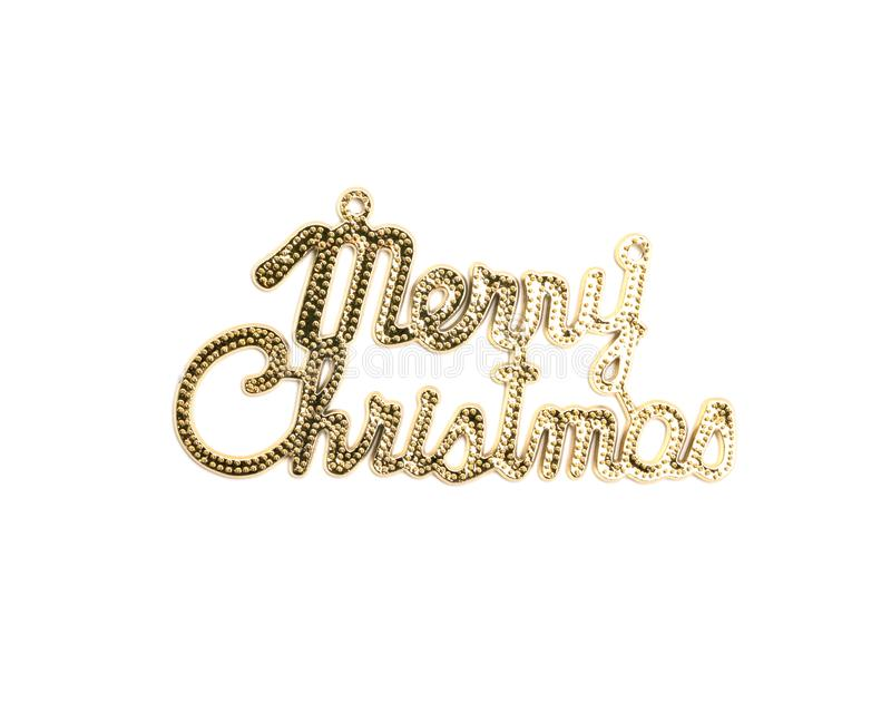 Merry christmas text on white background.  royalty free stock photography