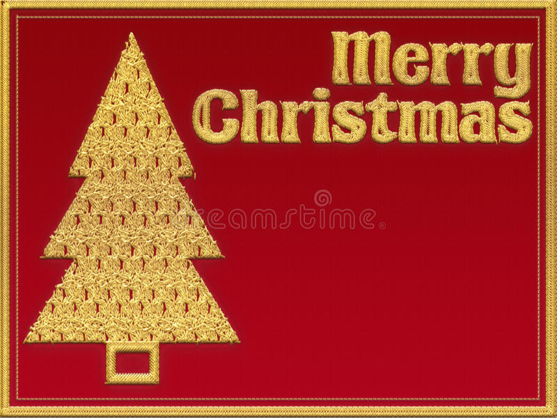 Merry Christmas textile greeting card royalty free illustration