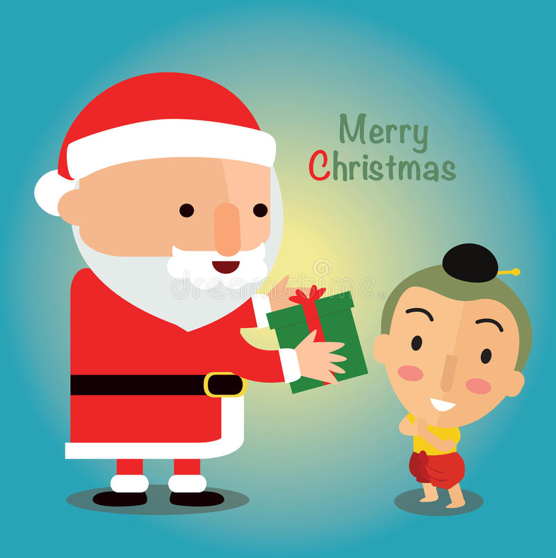 Merry Christmas in Thailand stock illustration