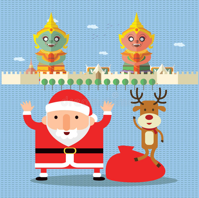 Merry Christmas in Thailand vector illustration