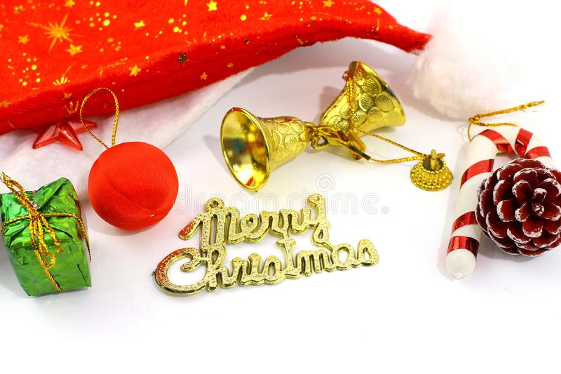 Merry Christmas toy and gift background royalty free stock photo
