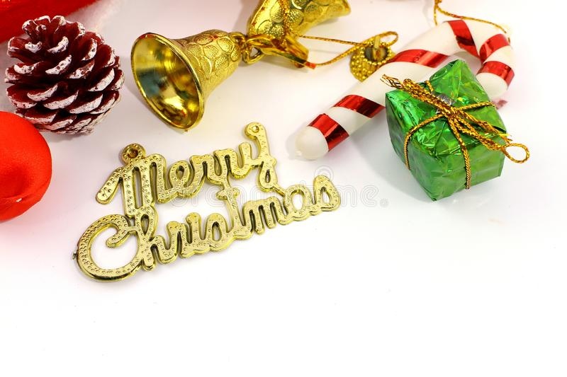 Merry Christmas toy and gift background royalty free stock image