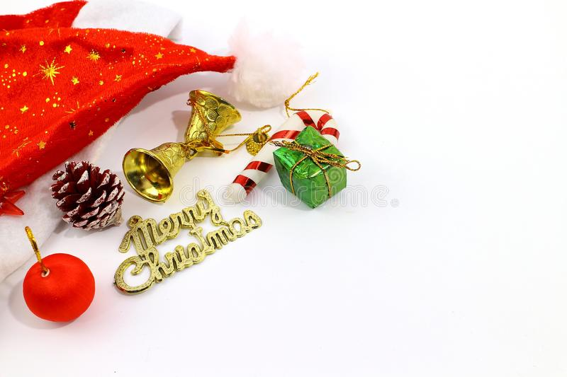 Merry Christmas toy and gift background royalty free stock photos