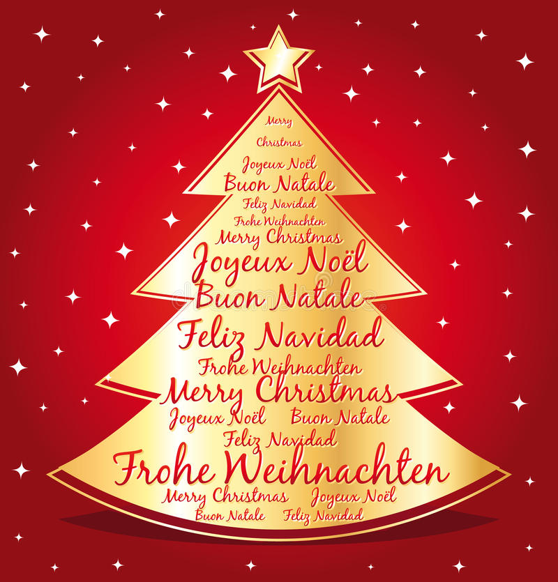 48 Christmas Wishes.Christmas Wishes Different Languages Stock Illustrations