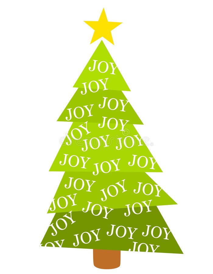 Merry Christmas Tree Joy stock illustration
