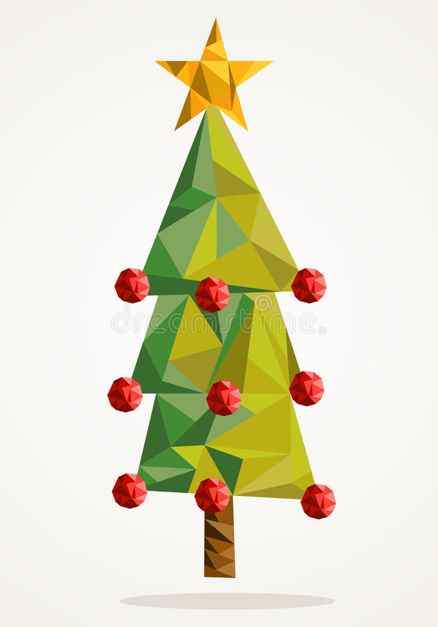 Merry Christmas tree triangle composition EPS10 file. royalty free stock images
