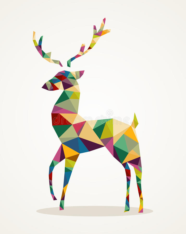 Merry Christmas trendy abstract reindeer EPS10 file. royalty free illustration
