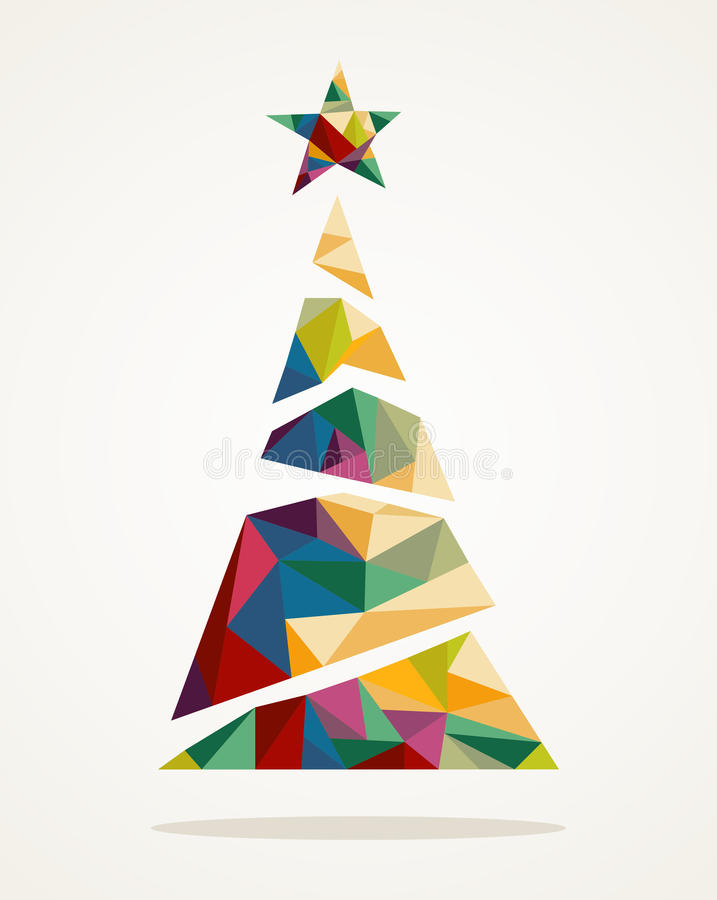 Merry Christmas trendy abstract tree EPS10 file. royalty free stock images