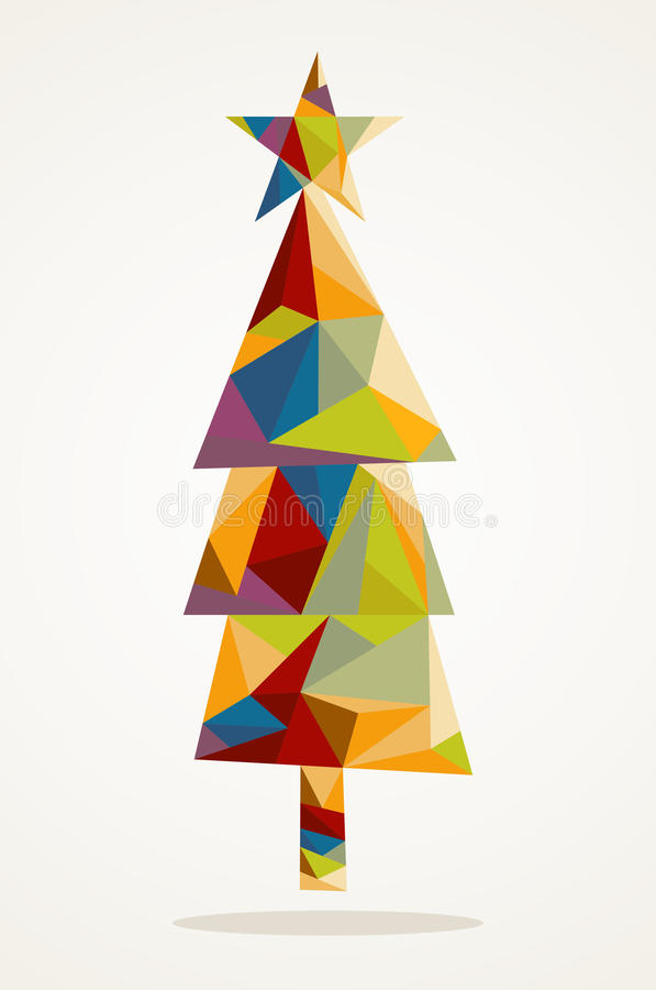Merry Christmas trendy tree composition EPS10 file. royalty free stock photography