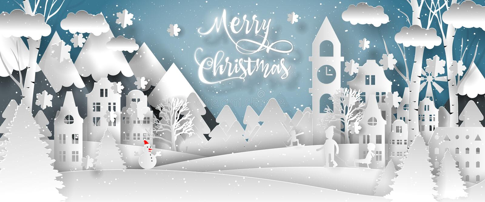 Merry christmas vector design. Happy new year 2019 and Merry christmas stock illustration