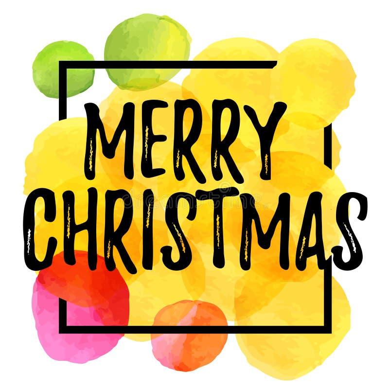 Merry Christmas vector Lettering stock illustration
