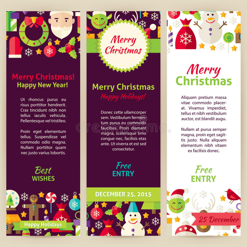 Merry christmas vector party invitation template flyer set stock download merry christmas vector party invitation template flyer set stock vector illustration of layout stopboris Images