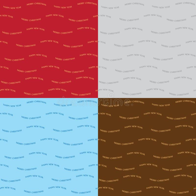 Merry christmas vector seamless patterns - vector set royalty free illustration