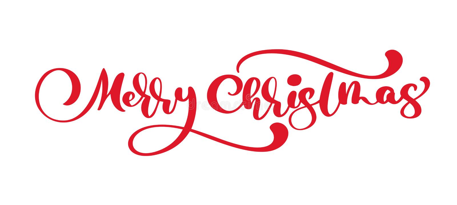 Merry Christmas vector text Calligraphic Lettering design card template. Creative typography for Holiday Greeting Gift vector illustration