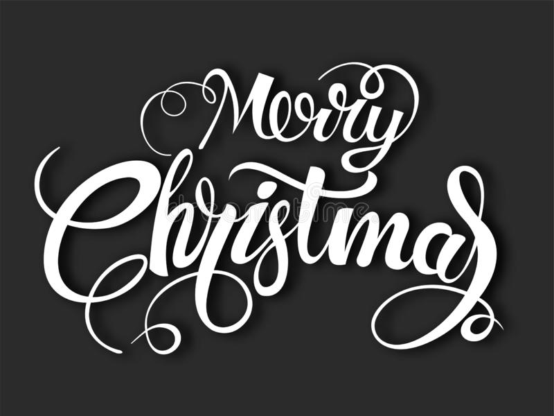 Merry Christmas vector text Calligraphic Lettering design card template. Creative typography for Holiday Greeting Gift Poster. vector illustration
