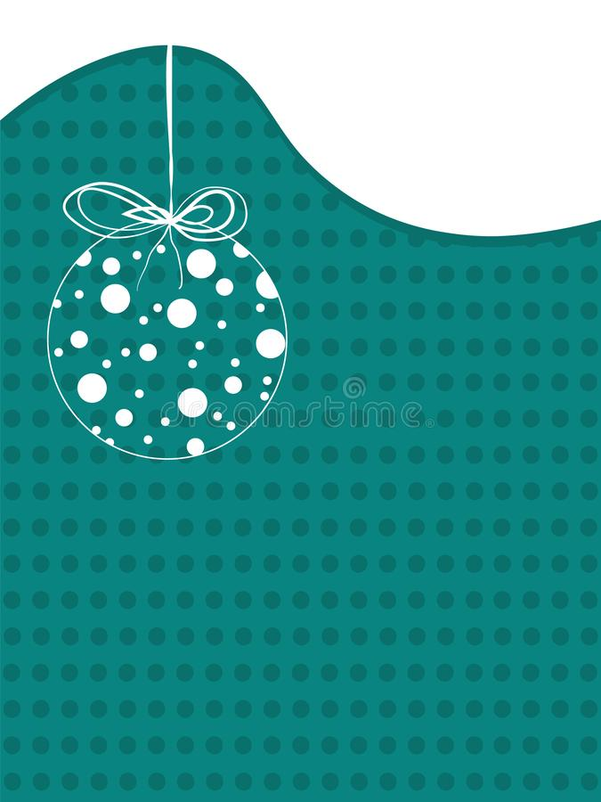Merry Christmas Vintage background with xmas ball. Retro flat design. stock illustration