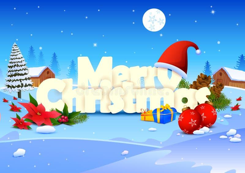 Merry Christmas Wallpaper Background Stock Vector