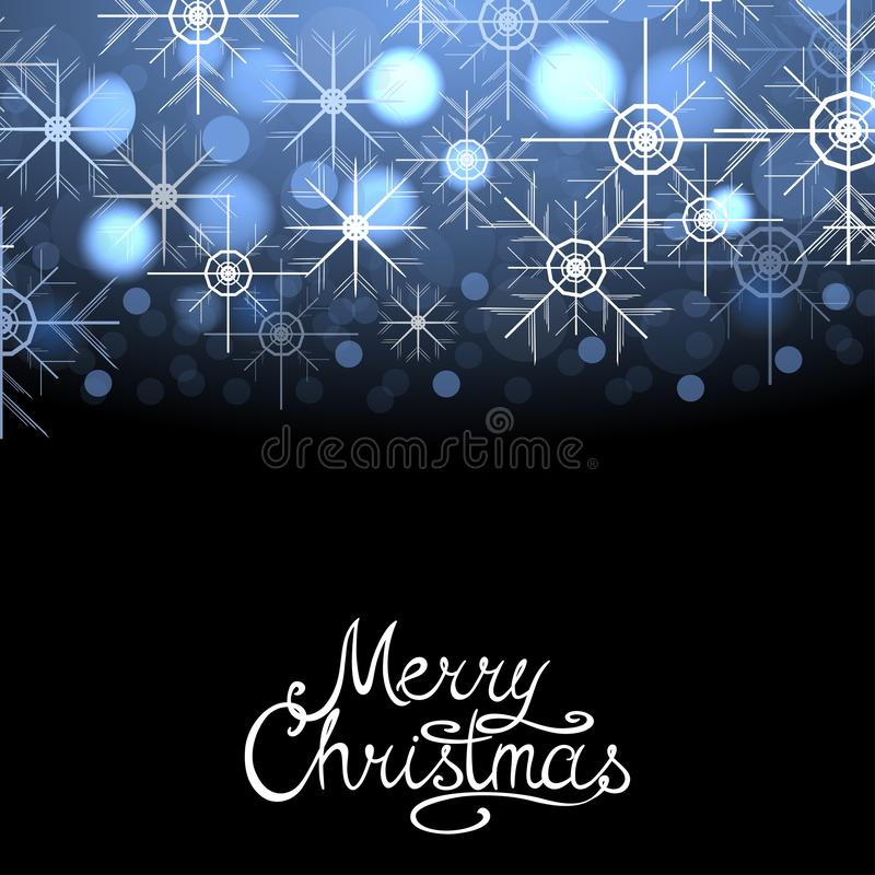 Merry Christmas winter abstract glowing background with sparkles and snowflakes. Vector xmas greeting card, postcard. Merry Christmas winter abstract glowing royalty free illustration