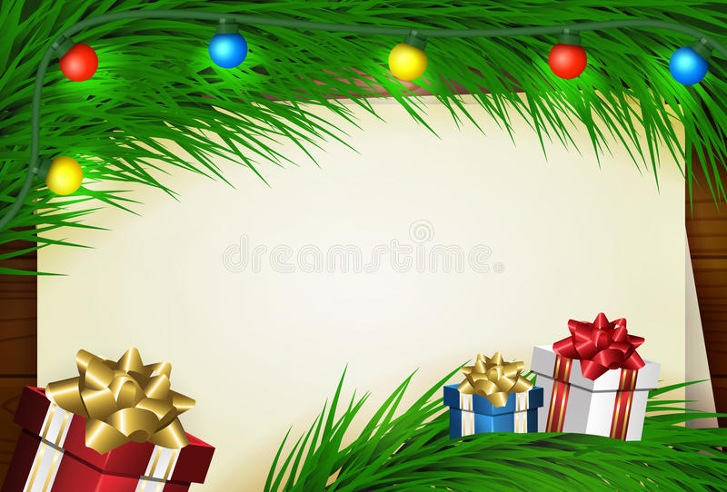 Merry Christmas wish card royalty free illustration