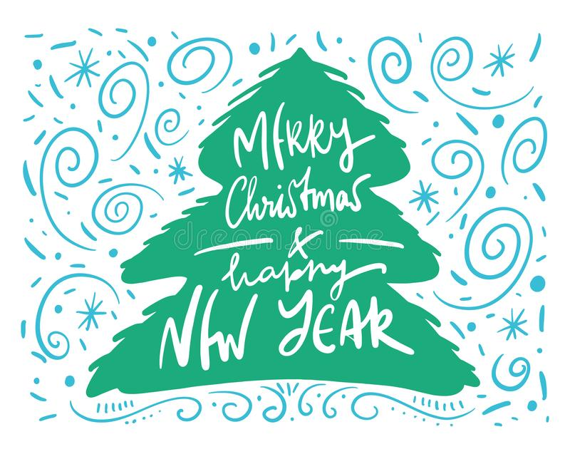 Merry Christmas. Wishes and Winter Holiday Elements. Christmas. Cartoon vector illustration. vector illustration