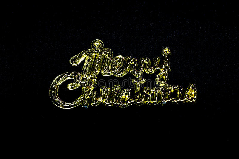 Merry christmas word on black background royalty free stock photos