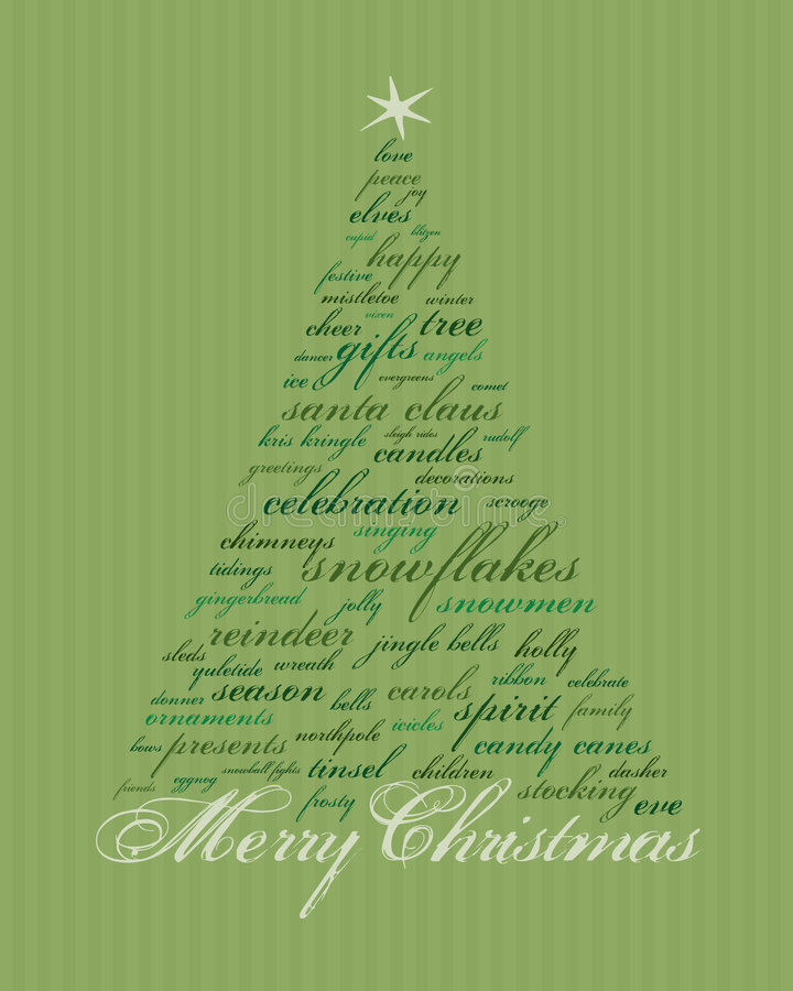Merry Christmas Words Royalty Free Stock Photography