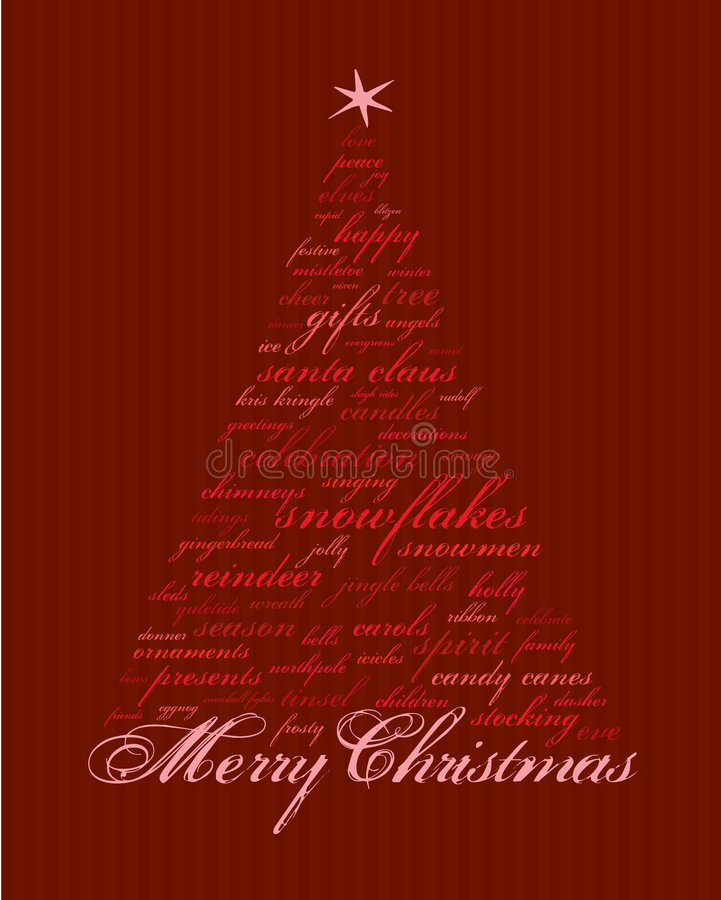 Free Merry Christmas Words Royalty Free Stock Photos - 4349368