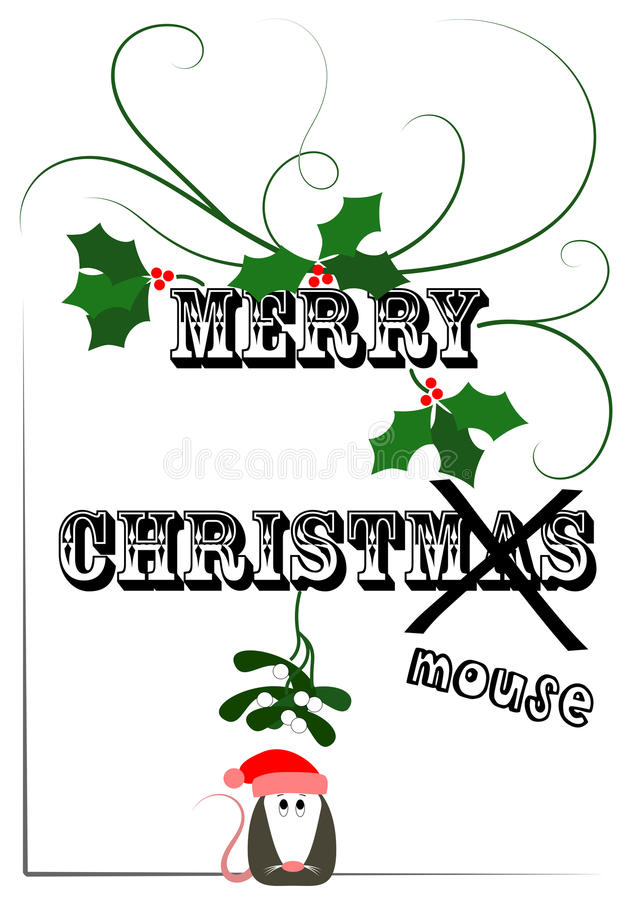 Merry Christmouse royalty free stock images
