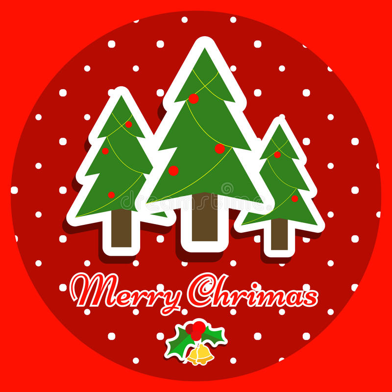 The Merry chritmas with red background design stock images