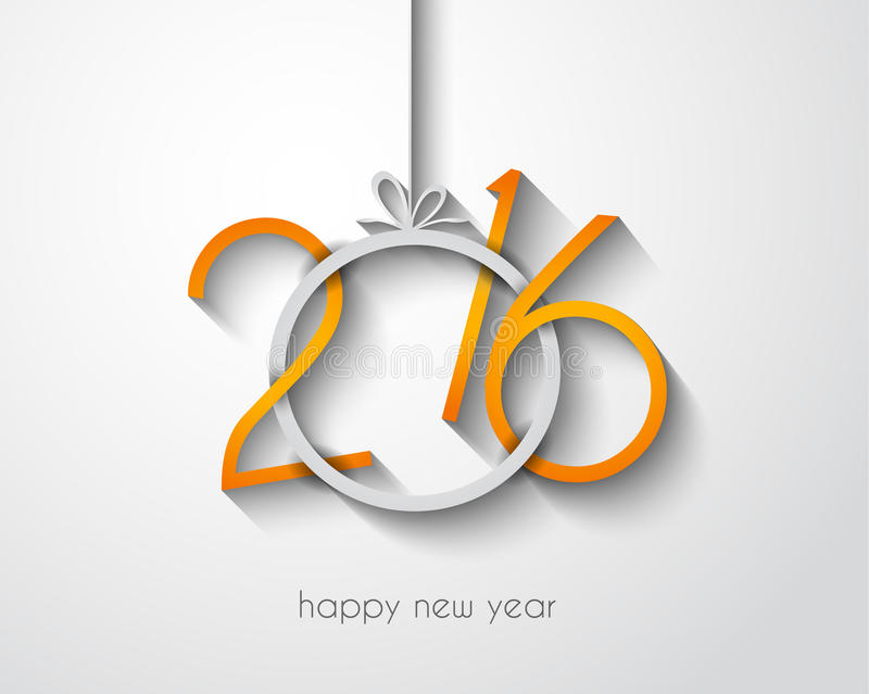 2016 Merry Chrstmas and Happy New Year Background stock illustration