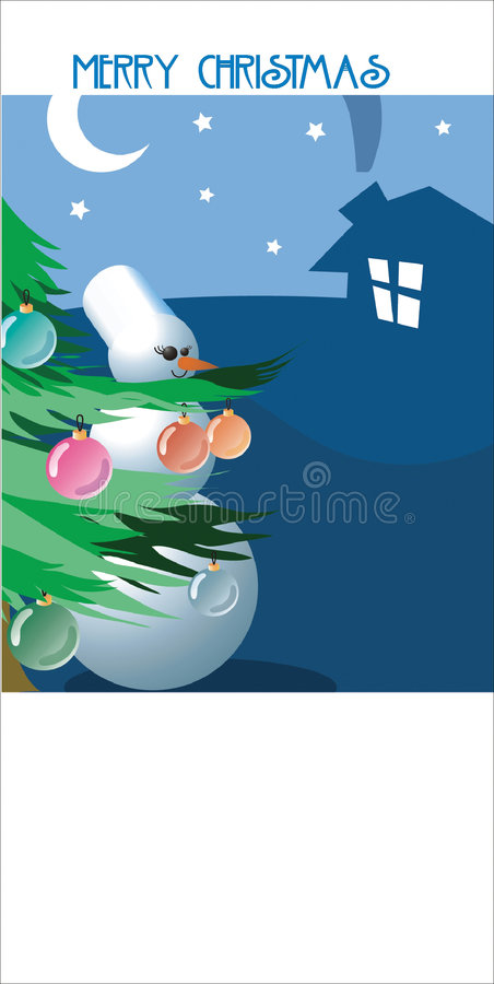 Download Merry Cristmas stock illustration. Image of winter, congratulation - 1328887