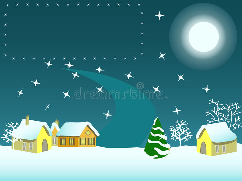 Download Merry cristmas! stock vector. Image of bright, ball, town - 16001165