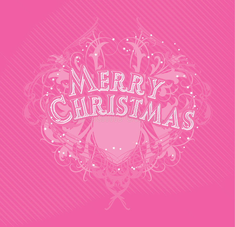 Download Merry Cristmas pink stock vector. Image of decoration - 33723045