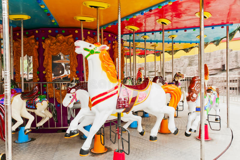 Download Merry-go-round stock photo. Image of entertainment, yellow - 22138254