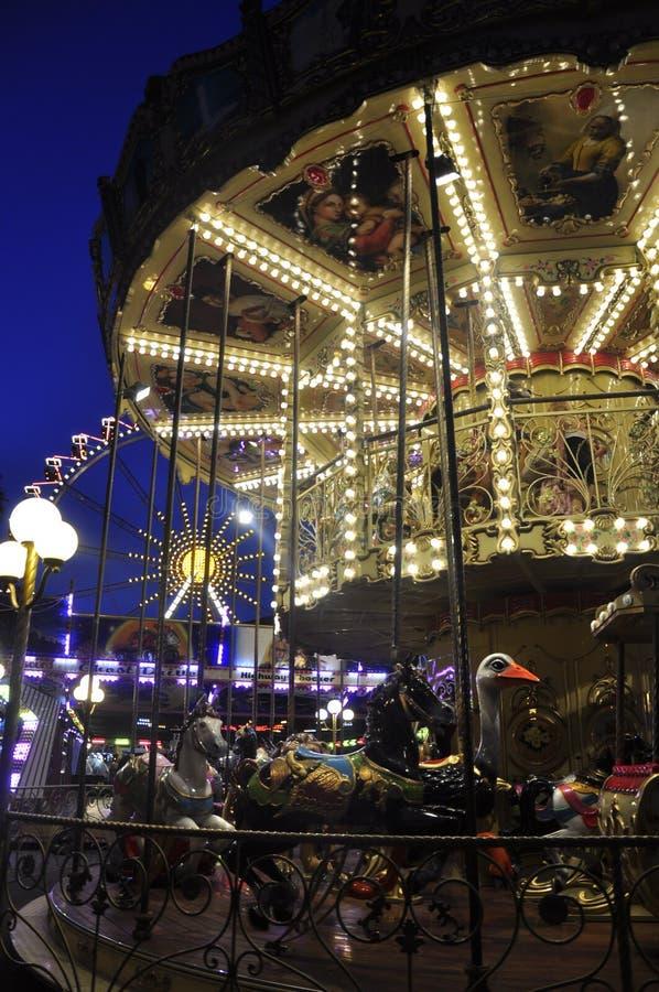 Merry-go-round, fun, joy, childhood, dream stock images
