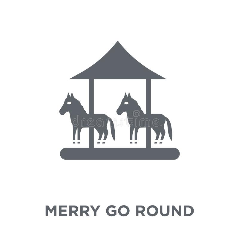 Merry go round icon from Circus collection. vector illustration