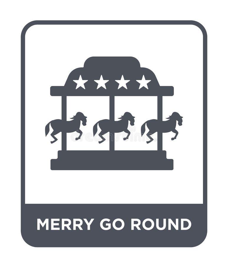 merry go round icon in trendy design style. merry go round icon isolated on white background. merry go round vector icon simple vector illustration