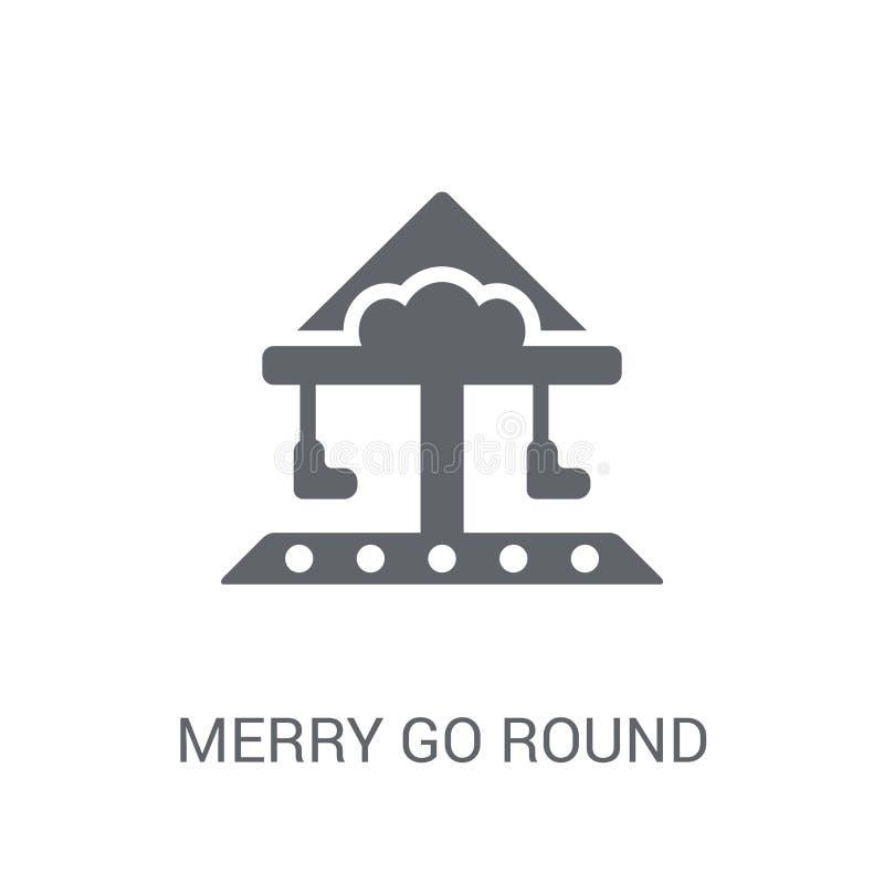 Merry go round icon. Trendy Merry go round logo concept on white stock illustration