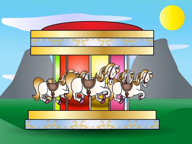 Merry go round illustration royalty free illustration