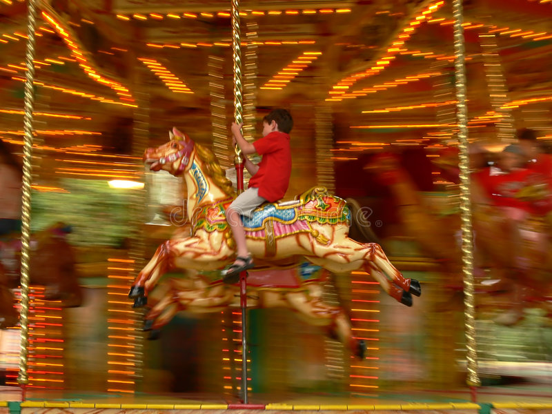 Merry-go-round in London stock photography