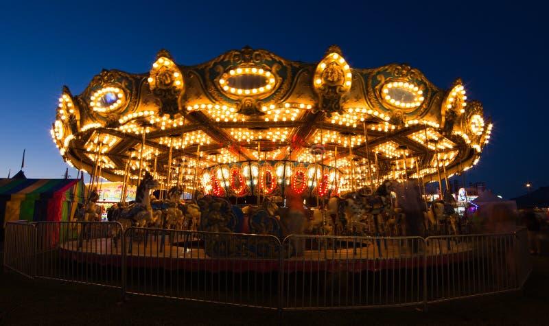 Merry go round at night royalty free stock photos